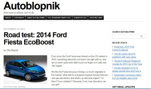 Autoblopnik's 2014 Fiesta review, yesterday