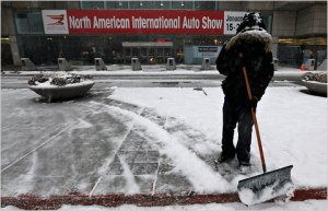 Detroit Auto Show in the winter, yesterday