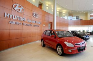 The only picture we could find that says Kia and Hyundai together, yesterday
