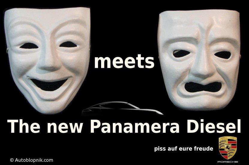 Porsche Panamera Diesel fake ad