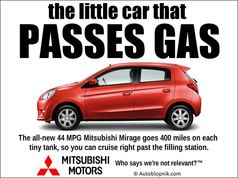 Mitsubishi Mirage ad