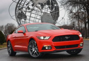A 2015 Ford Mustang, yesterday