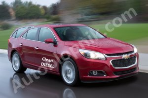 A poorly-paid artist's rendering of the 2015 Malibu Diesel Wagon, yesterday