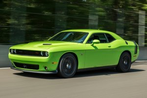 The 2015 Dodge Challenger SRT Hellcat, yesterday