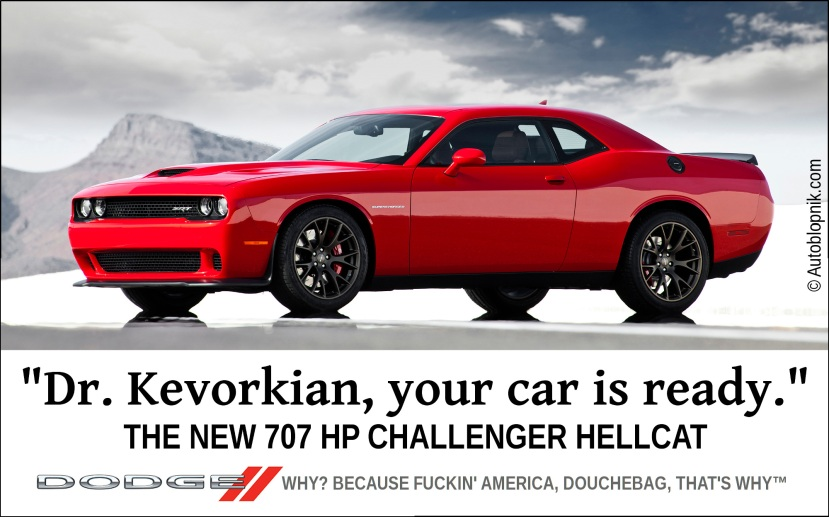 Dodge Challenger Hellcat ad, yesterday