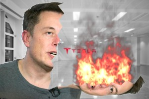 Elon Musk on fire, yesterday