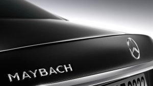 A little piece of a Mercedes that says Maybach on it, yesterday
