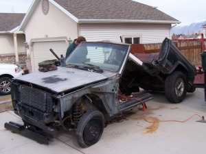 A hacked Jeep Cherokee, yesterday