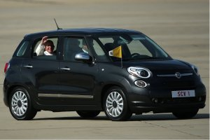 Test-driving the Fiat 500L, yesterday