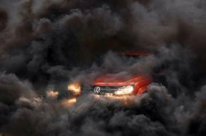 A fully emissions-complaint Volkswagen, yesterday